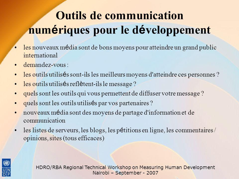 Outils de communication numériques pour le développement
