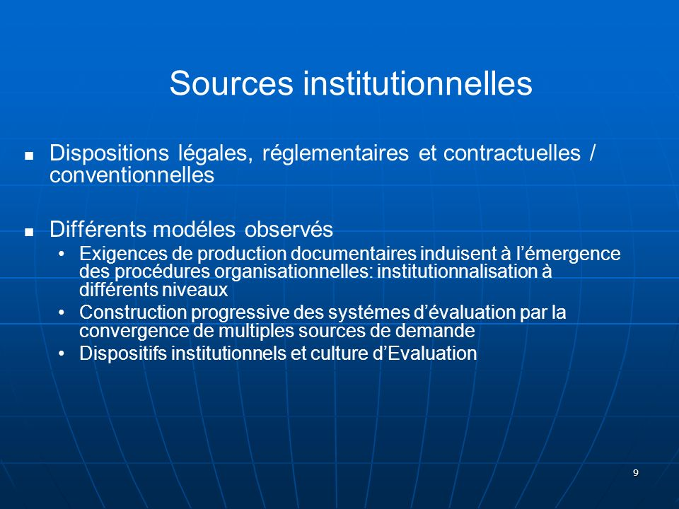 Sources institutionnelles