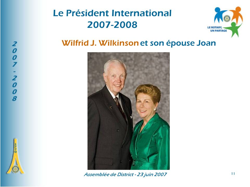Le Président International 2007-2008