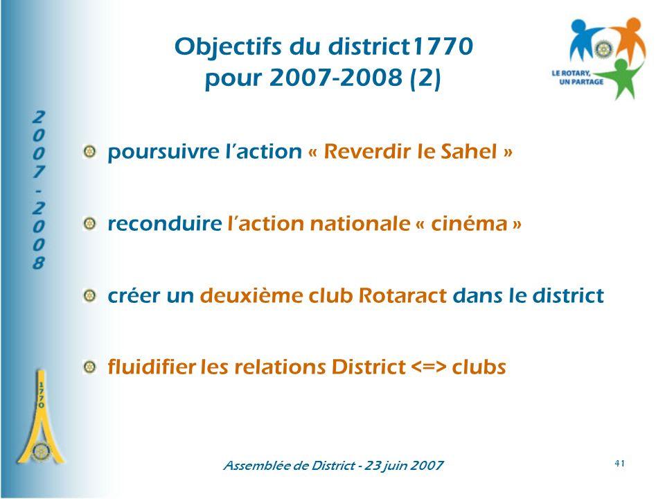 Objectifs du district1770 pour 2007-2008 (2)