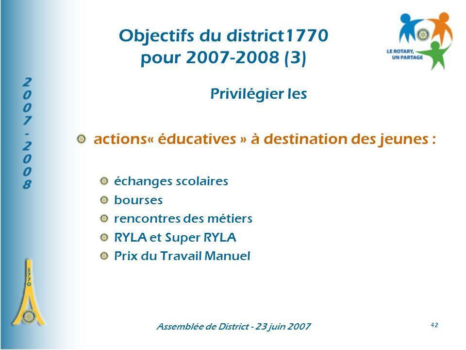 Objectifs du district1770 pour 2007-2008 (3)