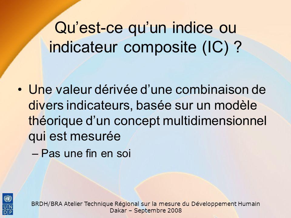 Qu'est-ce qu'un indice ou indicateur composite (IC)