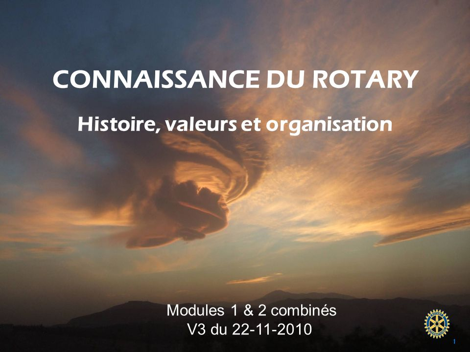 CONNAISSANCE DU ROTARY