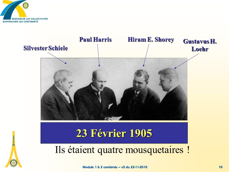 23 Février 1905 Ils étaient quatre mousquetaires ! Paul Harris