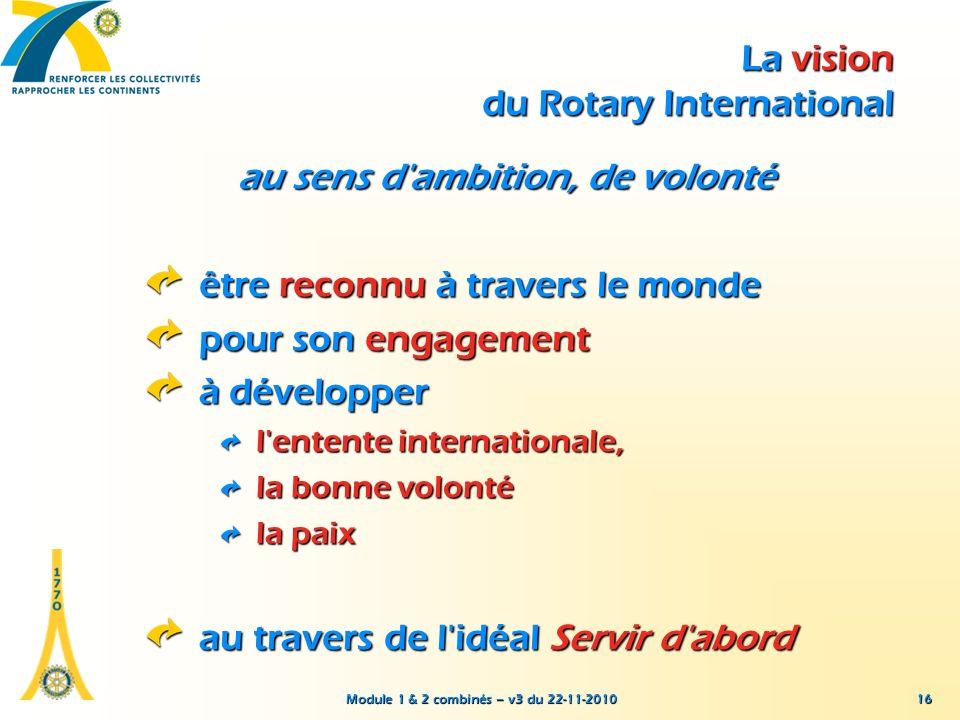 La vision du Rotary International
