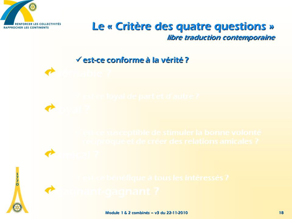 Le « Critère des quatre questions » libre traduction contemporaine