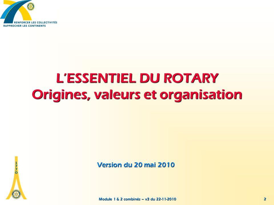 L'ESSENTIEL DU ROTARY Origines, valeurs et organisation