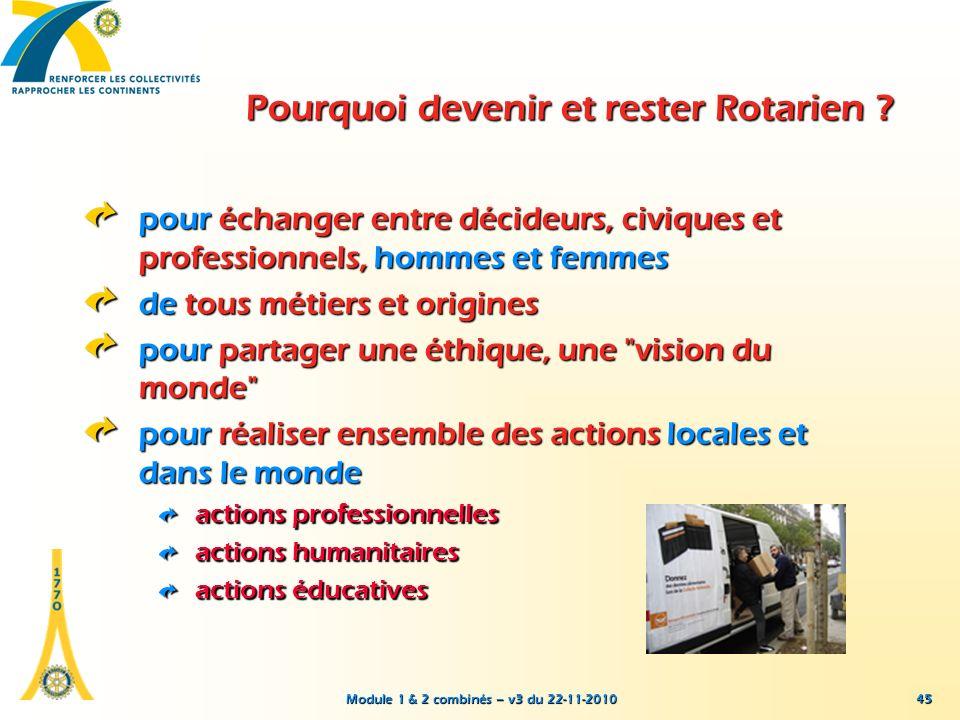 Pourquoi devenir et rester Rotarien