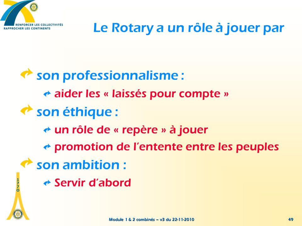 Le Rotary a un rôle à jouer par
