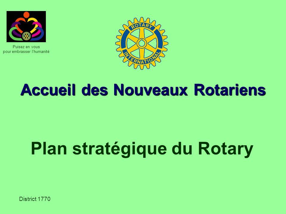 Accueil des Nouveaux Rotariens Plan stratégique du Rotary