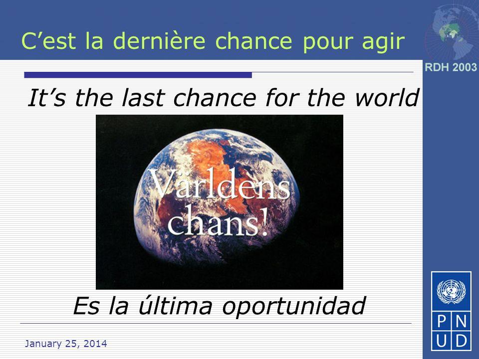 C'est la dernière chance pour agir