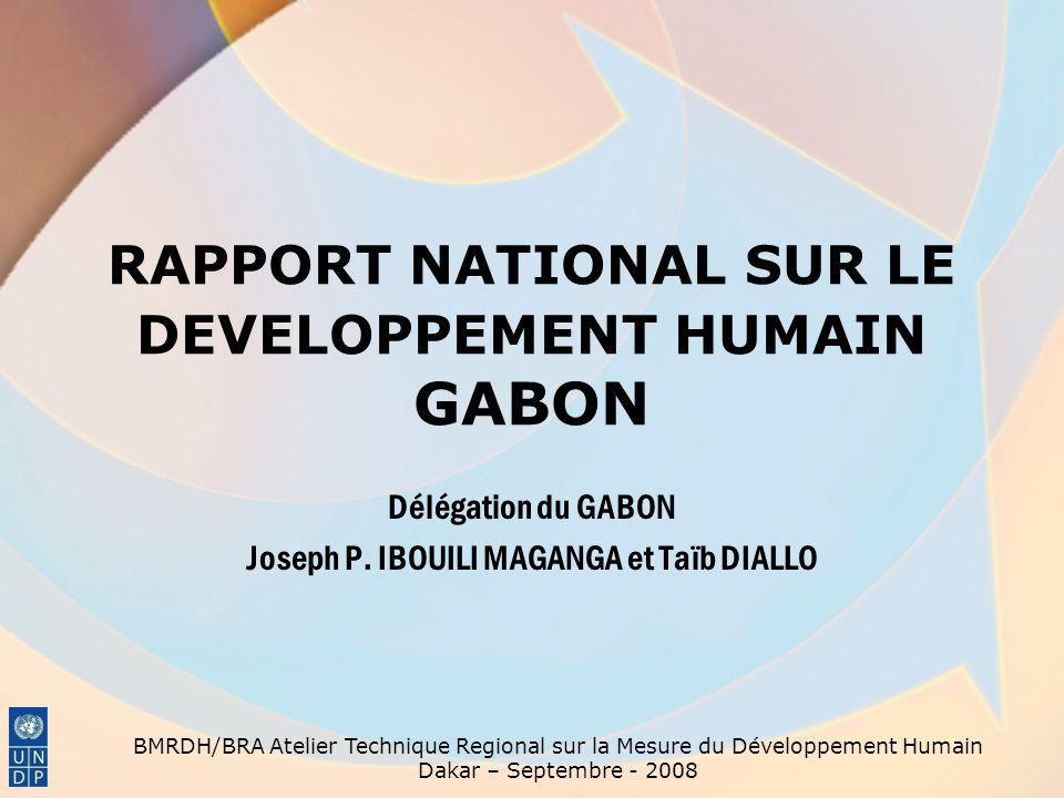 RAPPORT NATIONAL SUR LE DEVELOPPEMENT HUMAIN GABON