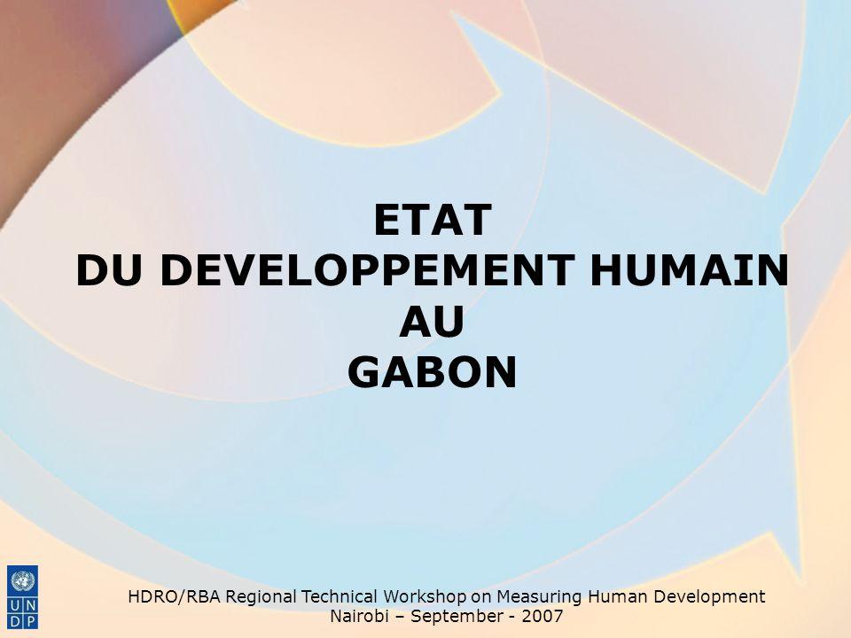 ETAT DU DEVELOPPEMENT HUMAIN AU GABON