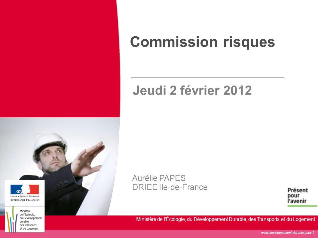 Commission risques Jeudi 2 février 2012 Aurélie PAPES