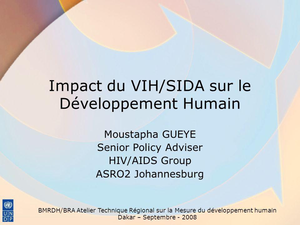 Impact du VIH/SIDA sur le Développement Humain