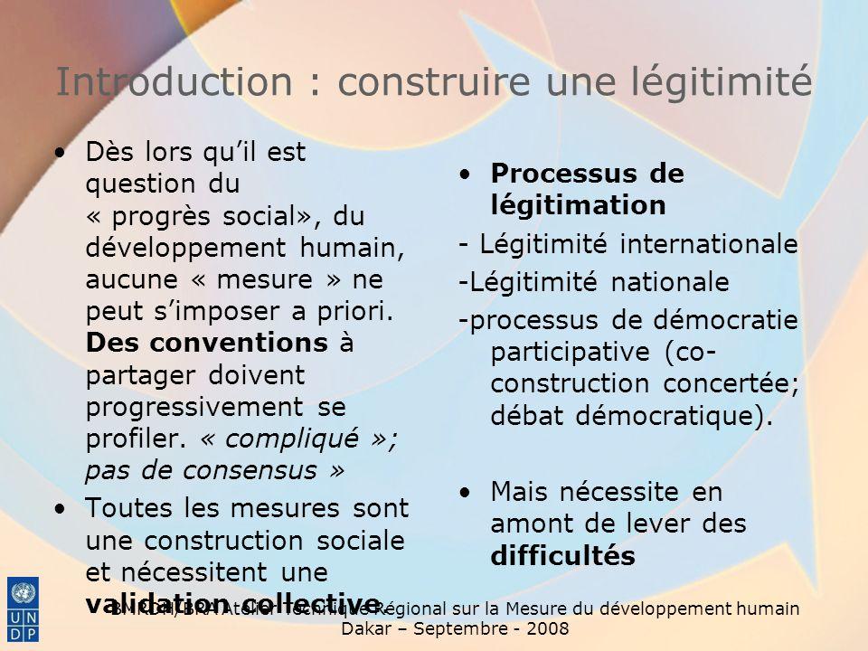 Introduction : construire une légitimité
