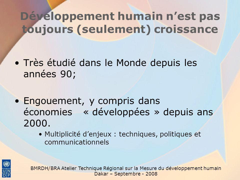 Développement humain n'est pas toujours (seulement) croissance