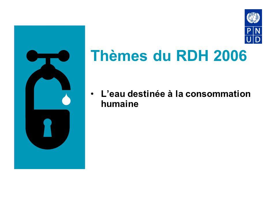 Thèmes du RDH 2006 L'eau destinée à la consommation humaine