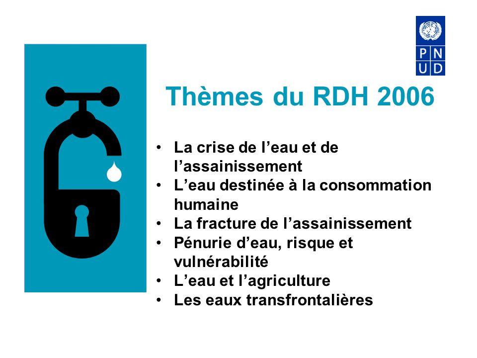 Thèmes du RDH 2006 La crise de l'eau et de l'assainissement