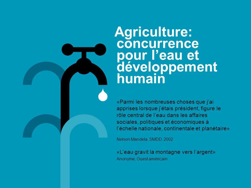 Agriculture: concurrence pour l'eau et développement humain