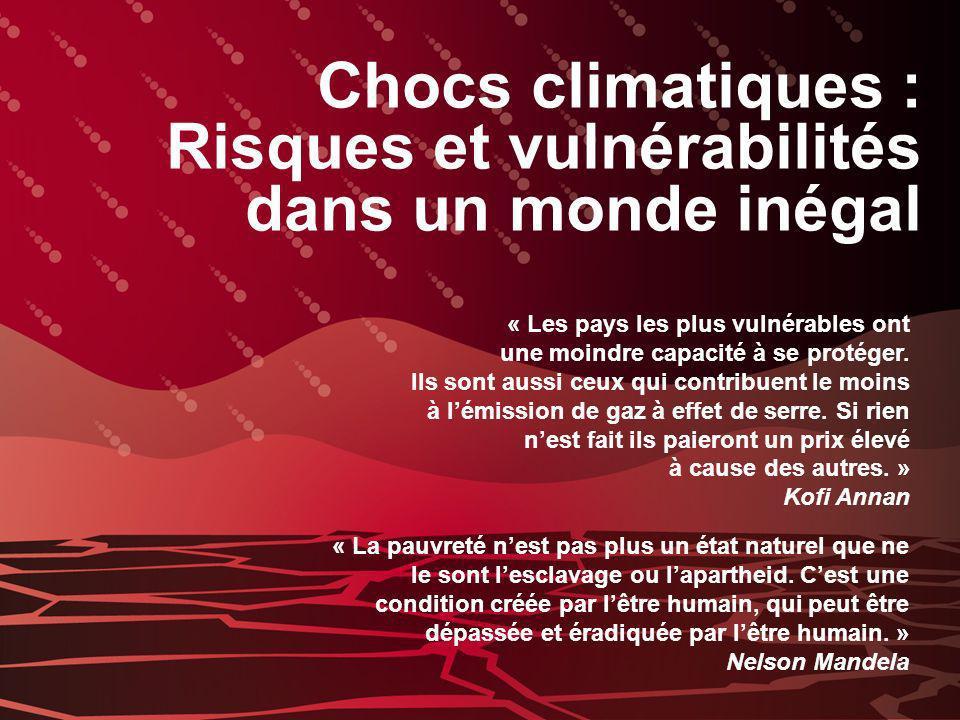 Risques et vulnérabilités dans un monde inégal