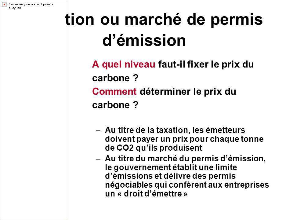 Taxation ou marché de permis d'émission