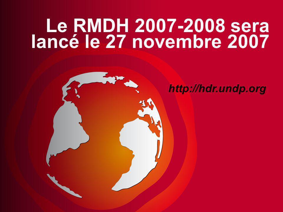 Le RMDH 2007-2008 sera lancé le 27 novembre 2007