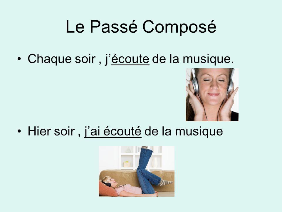 Le Passé Composé Chaque soir , j'écoute de la musique.