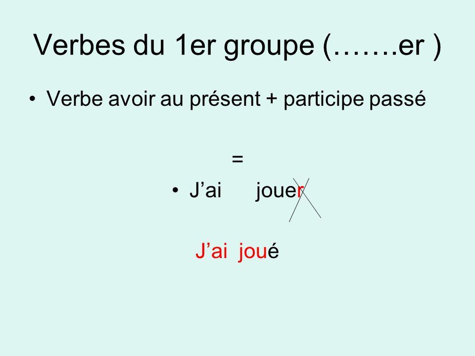 Verbes du 1er groupe (…….er )