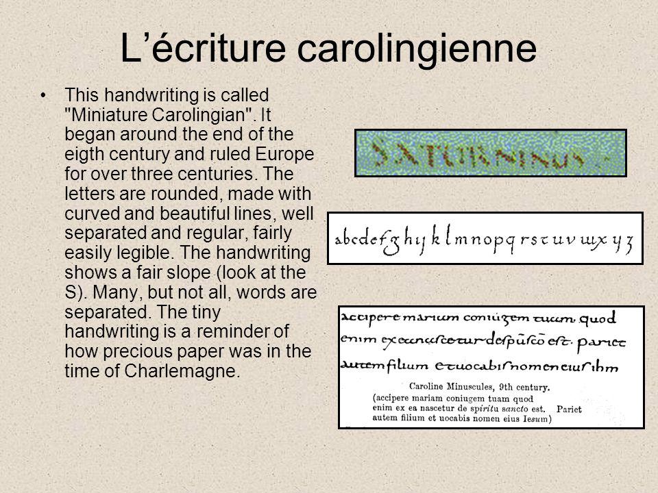L'écriture carolingienne