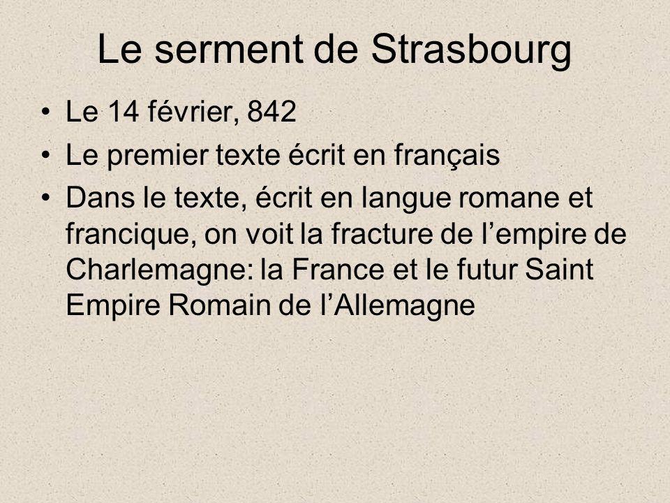 Le serment de Strasbourg