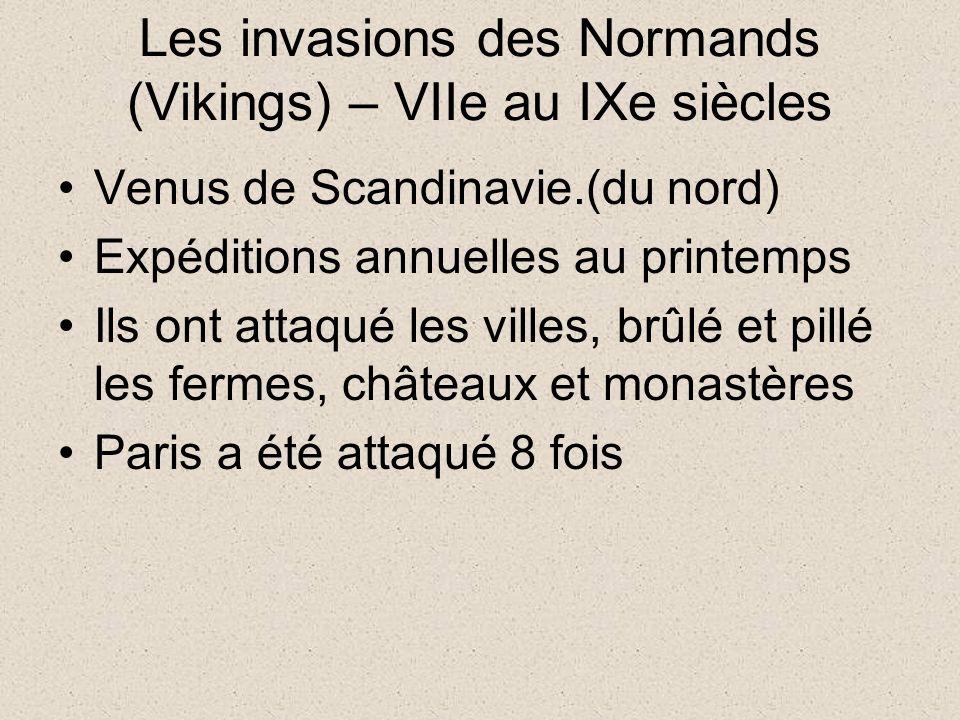 Les invasions des Normands (Vikings) – VIIe au IXe siècles