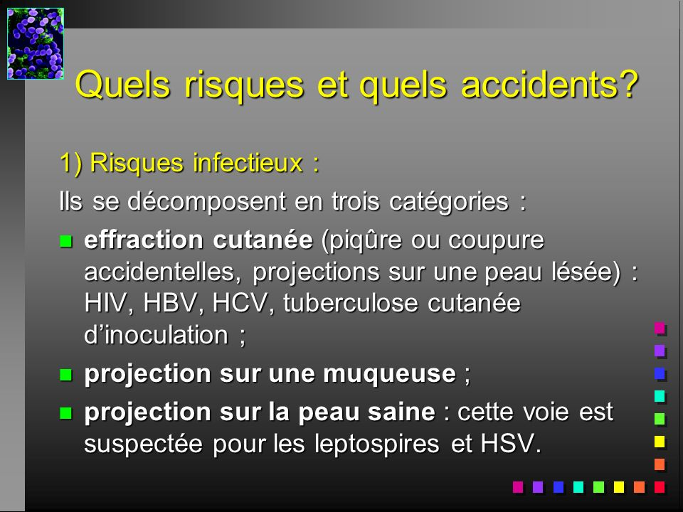 Quels risques et quels accidents