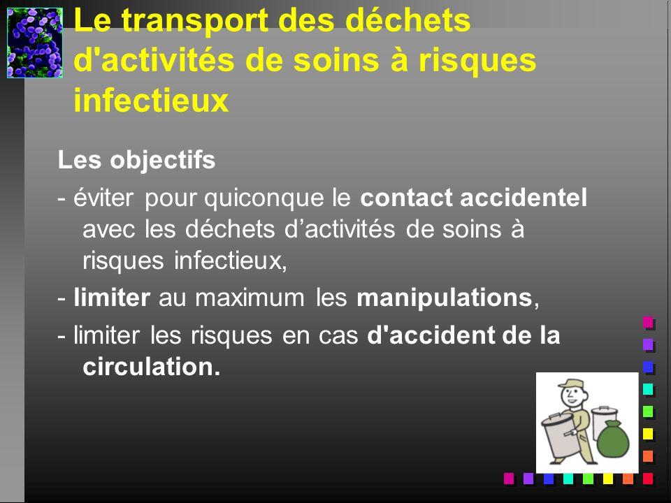 Le transport des déchets d activités de soins à risques infectieux