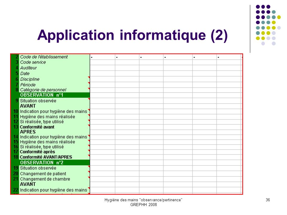 Application informatique (2)
