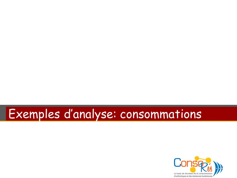 Exemples d'analyse: consommations