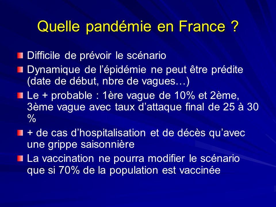 Quelle pandémie en France