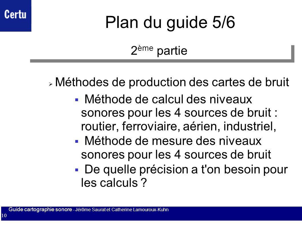 Plan du guide 5/6 2ème partie