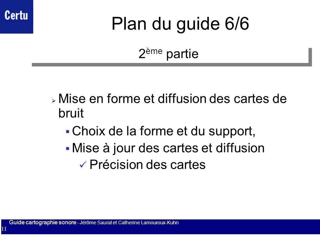 Plan du guide 6/6 2ème partie