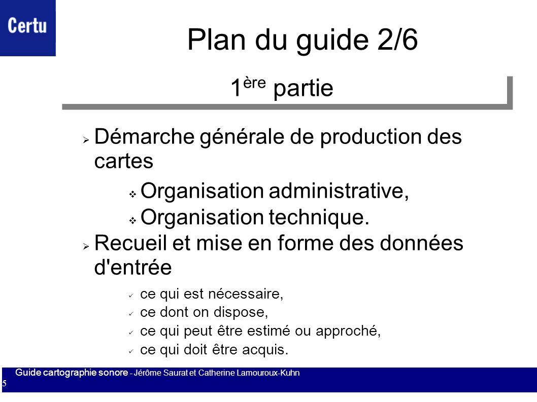 Plan du guide 2/6 1ère partie