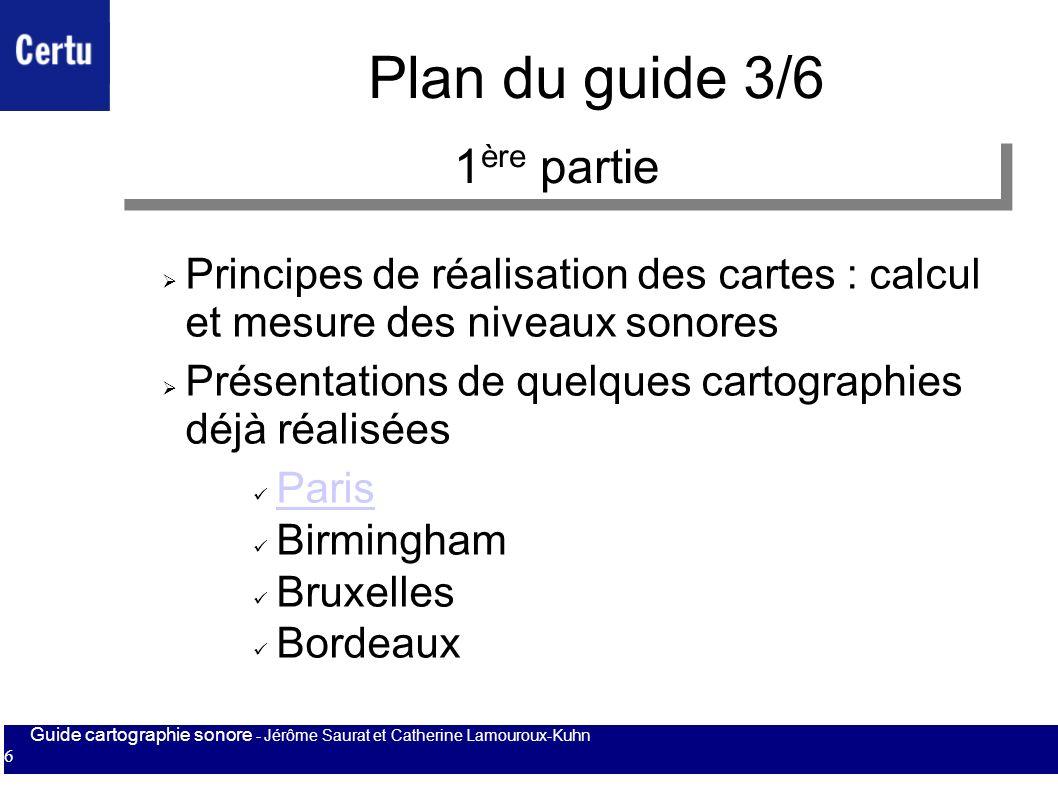 Plan du guide 3/6 1ère partie