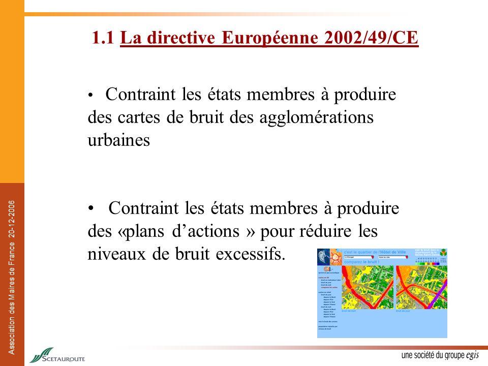 1.1 La directive Européenne 2002/49/CE