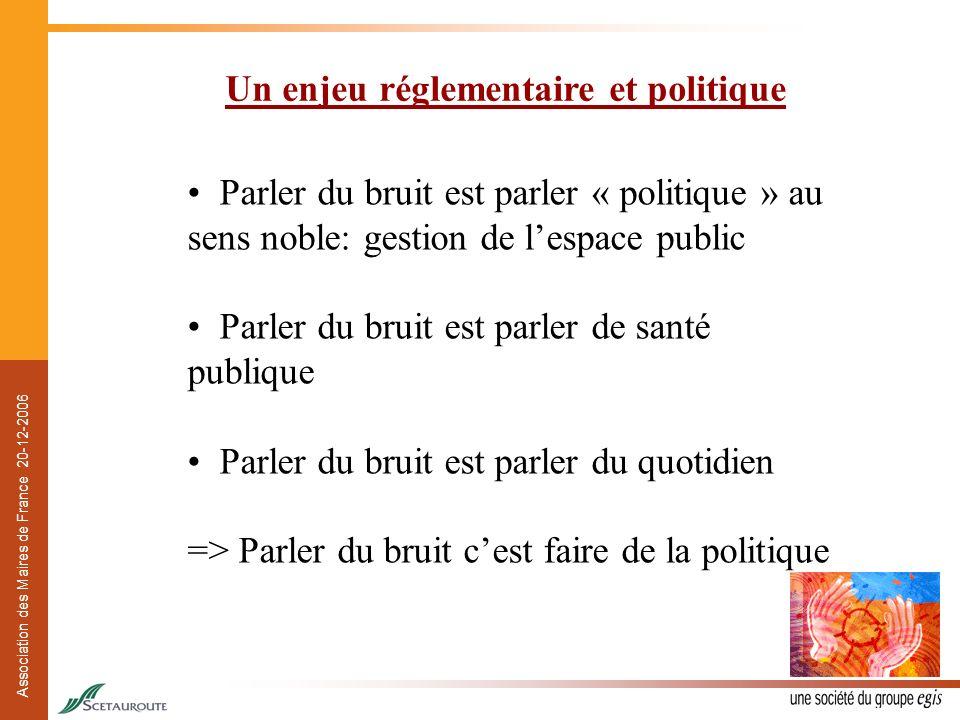Un enjeu réglementaire et politique