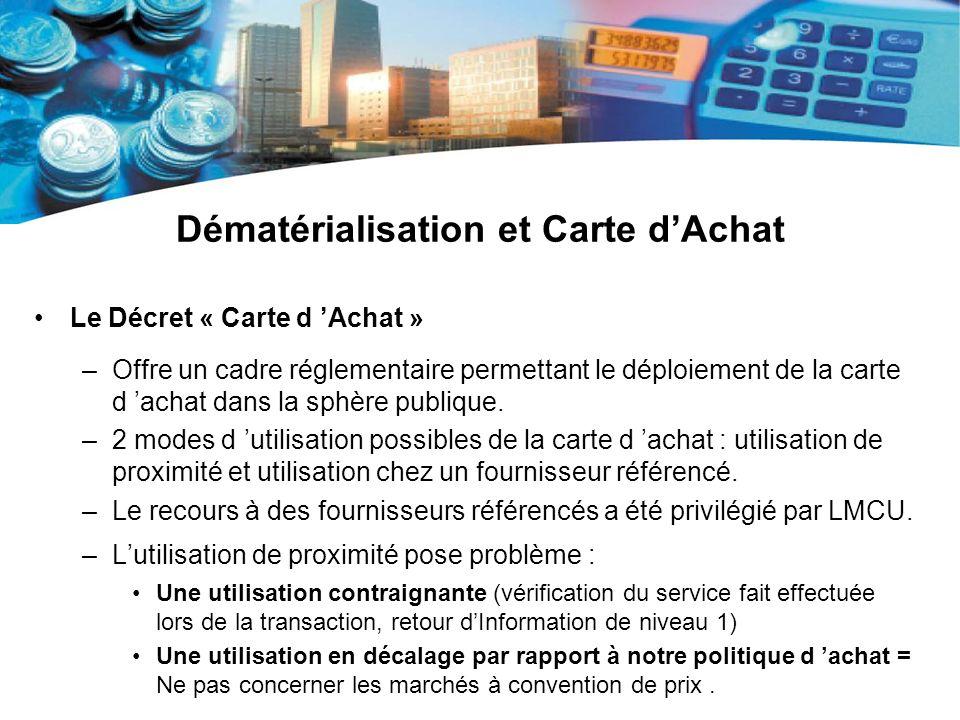 Dématérialisation et Carte d'Achat