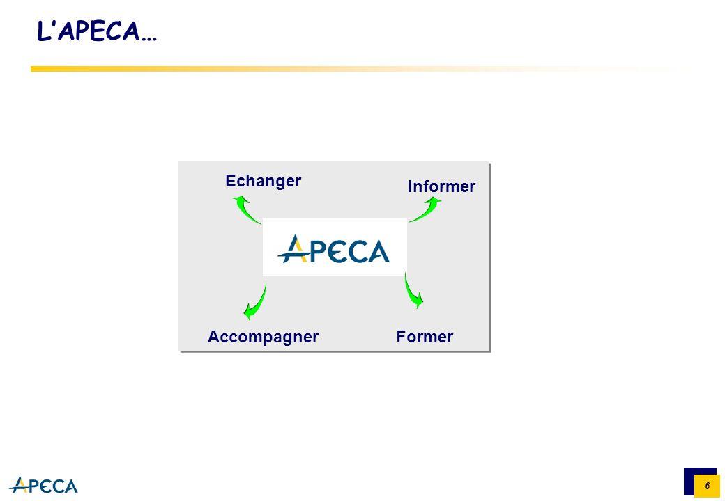 L'APECA… Echanger Informer Accompagner Former