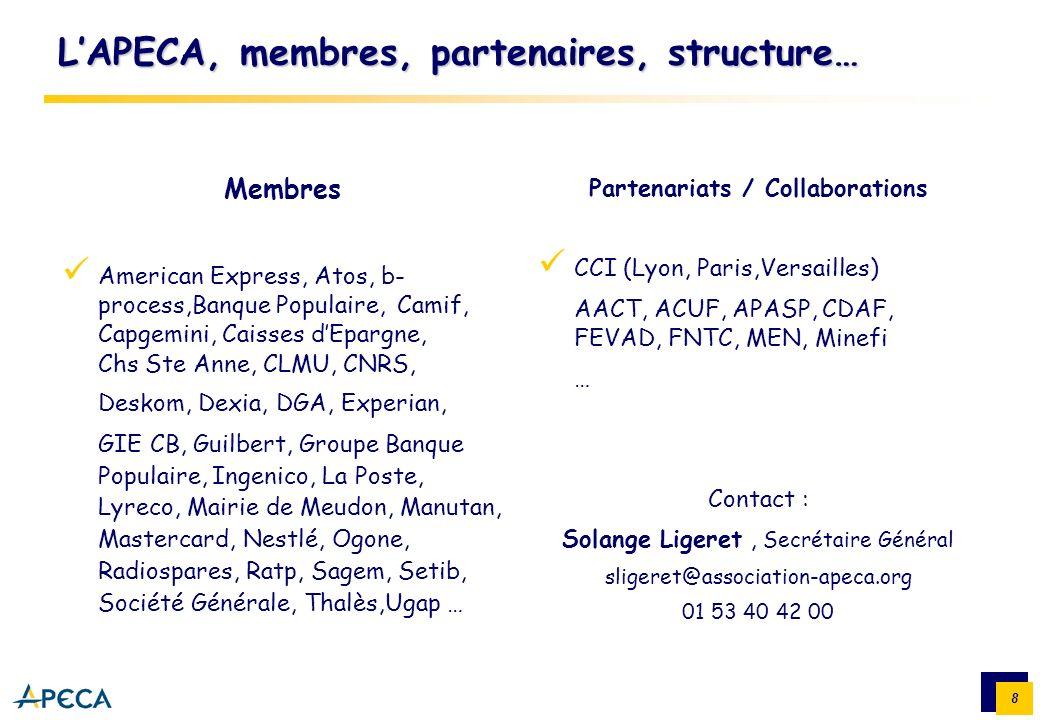 L'APECA, membres, partenaires, structure…