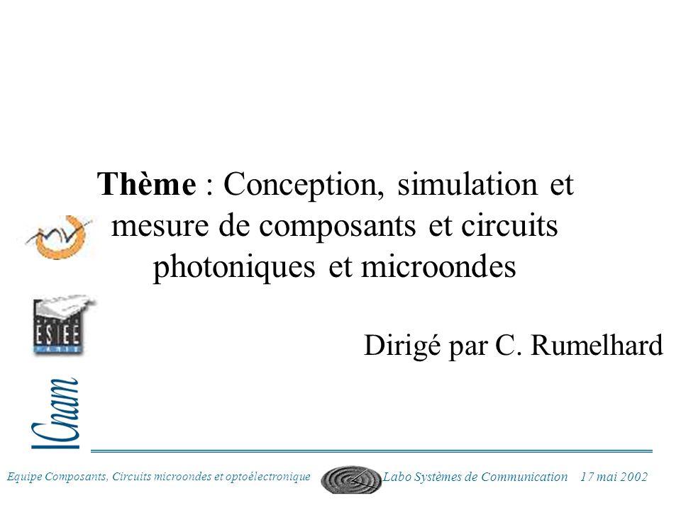 Thème : Conception, simulation et mesure de composants et circuits