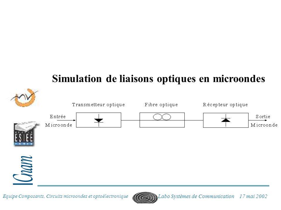 Simulation de liaisons optiques en microondes
