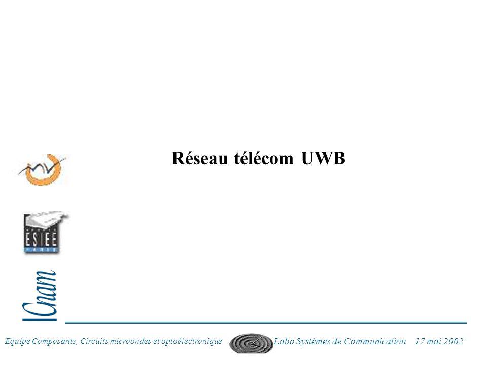 Réseau télécom UWB Labo Systèmes de Communication