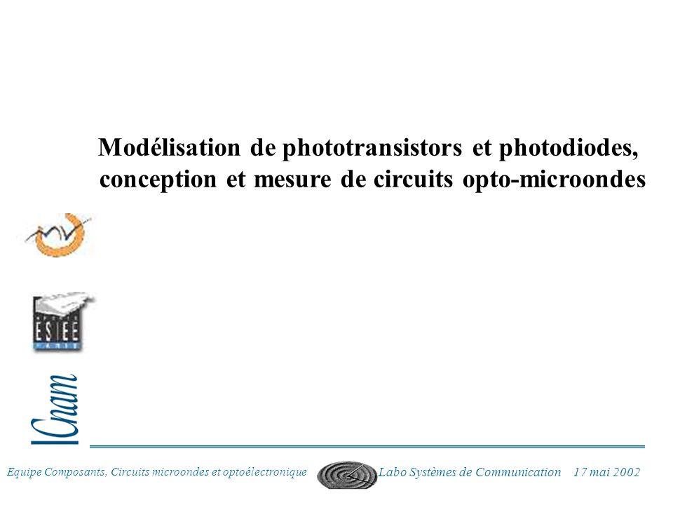 Modélisation de phototransistors et photodiodes,